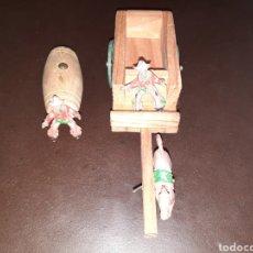 Figuras de Goma y PVC: CARRETA MADERA LAFREDO.. Lote 229021410