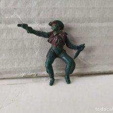 Figuras de Borracha e PVC: FIGURA DE PLÁSTICO VAQUERO A CABALLO TEIXIDO. Lote 229227120