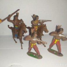 Figuras de Borracha e PVC: COMANSI OESTE FART WEST INDIOS. Lote 229481785