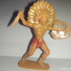 Figuras de Goma y PVC: POBLADO INDIO JECSAN OESTE FART WEST. Lote 229674395