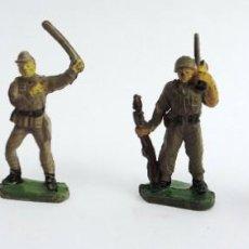 Figuras de Goma y PVC: 4 SOLDADOS DE GOMA, DOS PARECEN JAPONESES, SON PEQUEÑOS, UNOS 4 CMS. PECH?. Lote 229788920