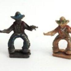 Figuras de Goma y PVC: 6 FIGURAS DE COWBOY, VAQUERO OESTE SERIE PEQUEÑA 4 CMS, FABRICADO POR LAFREDO?, ORIGINAL AÑOS 50.. Lote 229788990