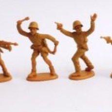 Figuras de Goma y PVC: 10 SOLDADOS DE PLASTICO, CASCOS Y GORRAS DESMONTABLES, TIENEN MUCHA CALIDAD, MUY RAROS. REALIZADOS E. Lote 229789080