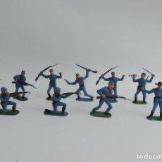 Figuras de Goma y PVC: 10 FIGURAS DE JECSAN OESTE, YANKEE FEDERAL, TAL Y COMO SE VEN EN LAS FOTOGRAFIAS.. Lote 229789180