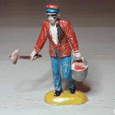 Figuras de Goma y PVC: ENCARGADO COMIDA FIERAS CIRCO, FABRICADO EN GOMA, JECSAN MADE IN SPAIN, ORIGINAL AÑOS 50.. Lote 229920305