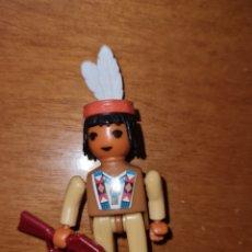 Figuras Kinder: FIGURA KINDER FERRERO ANTIGUA STECKFIGUREN MONTABLE INDIOS SIUX SIOUX OESTE SIMILAR PLAYMOBIL. Lote 229964830