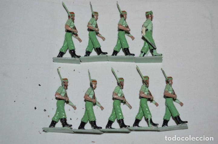 Figuras de Goma y PVC: LA LEGION - Antiguo/vintage - 9 Soldados desfilando - REAMSA y GOMARSA - ¡Mira fotos! - Foto 3 - 230052005