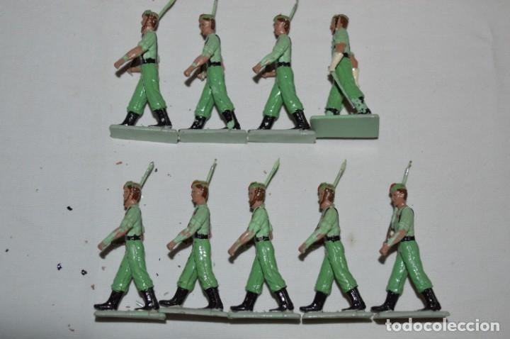 Figuras de Goma y PVC: LA LEGION - Antiguo/vintage - 9 Soldados desfilando - REAMSA y GOMARSA - ¡Mira fotos! - Foto 4 - 230052005