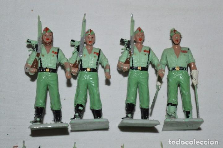 Figuras de Goma y PVC: LA LEGION - Antiguo/vintage - 9 Soldados desfilando - REAMSA y GOMARSA - ¡Mira fotos! - Foto 10 - 230052005