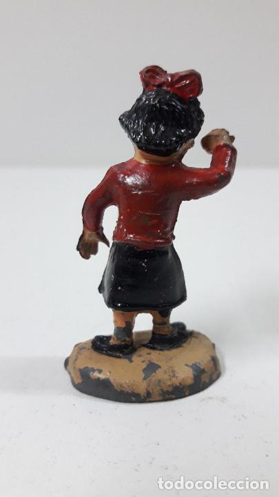 Figuras de Goma y PVC: LA HIJA PEQUEÑA MERCEDITAS - FAMILIA ULISES . REALIZADA POR TEIXIDO . ORIGINAL AÑOS 50 EN GOMA - Foto 4 - 230264195