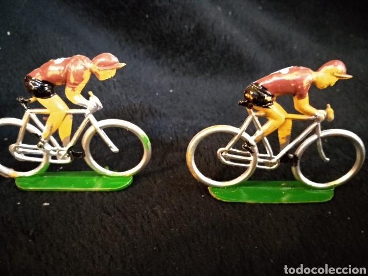 Figuras de Goma y PVC: 3 figuras ciclistas, Reamsa - Foto 2 - 230337695