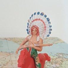 Figuras de Goma y PVC: JECSAN INDIO A CAVALLO. Lote 230348345