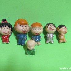 Figuras de Goma y PVC: LA FAMILIA TELERIN LOS 6 COMPONENTES EN PLASTICO DURO ORIGINALES DE LOS AÑOS 60/70. Lote 230951865
