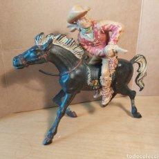 Figurines en Caoutchouc et PVC: LAFREDO. VAQUERO COWBOY A CABALLO GRANDES 10 CM (AMBOS) DIFÍCIL DE ENCONTRAR. NO PECH. NO REAMSA.. Lote 230972720
