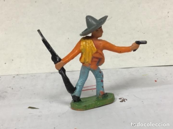 Figuras de Goma y PVC: FIGURA MEJICANO STARLUX CLAIRET OESTE WESTERN COWBOY NO PECH REMASA JECSAN COMANSI - Foto 2 - 231086125