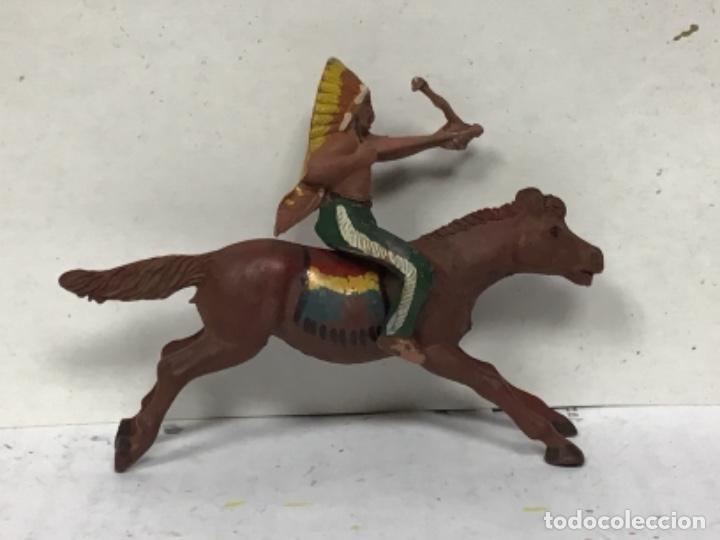 Figuras de Goma y PVC: FIGURA INDIO COWBOY REAMSA GOMA AÑOS 50 OESTE WESTERN NO JECSAN LAFREDO PECH - Foto 2 - 231086920