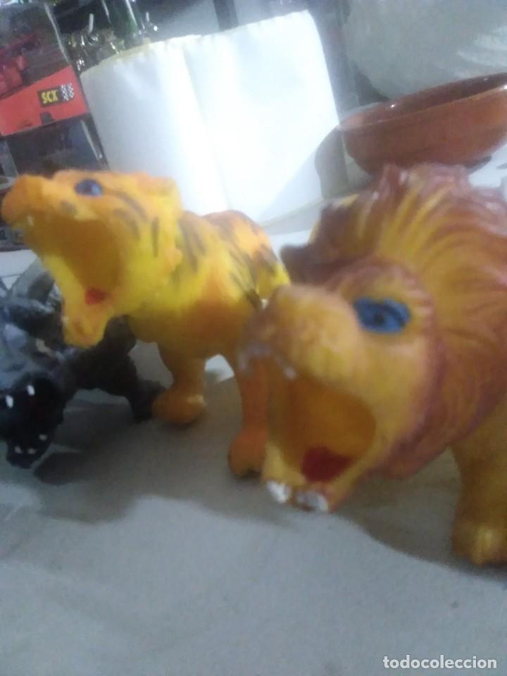 Figuras de Goma y PVC: 5 muñecos goma salvajes animales años 80/90 made in China - Foto 2 - 231310860