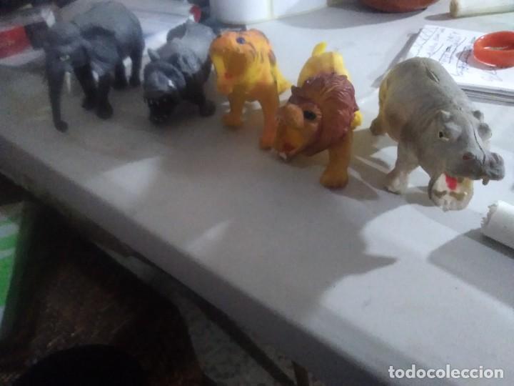 Figuras de Goma y PVC: 5 muñecos goma salvajes animales años 80/90 made in China - Foto 3 - 231310860