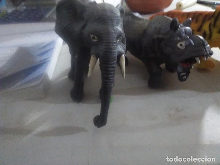 Figuras de Goma y PVC: 5 muñecos goma salvajes animales años 80/90 made in China - Foto 5 - 231310860