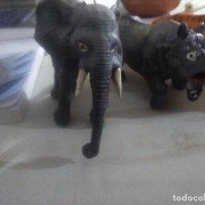 Figuras de Goma y PVC: 5 MUÑECOS GOMA SALVAJES ANIMALES AÑOS 80/90 MADE IN CHINA. Lote 243444935