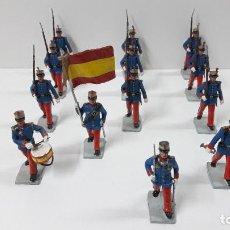 Figuras de Goma y PVC: DESFILE DE LA INFANTERIA DEL REY . REALIZADOS POR SOLDIS . ORIGINAL AÑOS 70. Lote 231494555