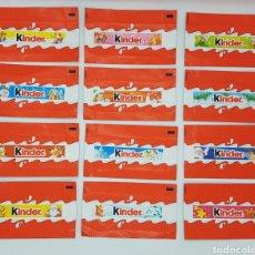 Figuras Kinder: LOTE 12 ENVOLTORIOS CHOCOLATE KINDER (NAVIDAD). Lote 231509785