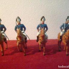 Figurines en Caoutchouc et PVC: 4 SOLDADOS A CABALLO DRAGONES GUARDIA REAL MUY BUEN ESTADO. Lote 231538840