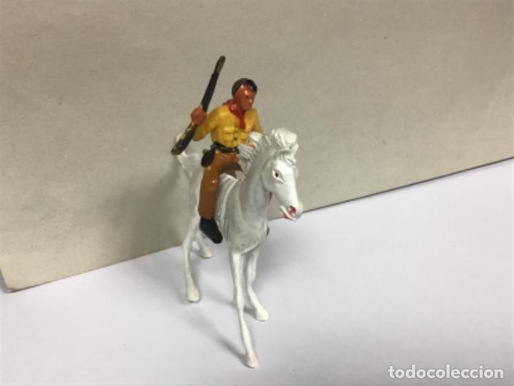 Figuras de Goma y PVC: FIGURA VAQUERO COWBOY STARLUX caballo comansi OESTE WESTERN NO PECH REAMSA JECSAN - Foto 2 - 231564515