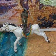 Figuras de Goma y PVC: SOLDADO CONFEDERADO DE GOMA A CABALLO DE PECH. Lote 231820930