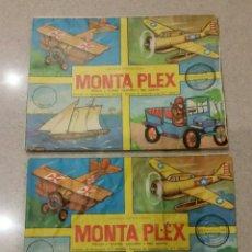 Figuras de Goma y PVC: LOTE DE DOS SOBRES VACÍOS MONTAPLEX N 405 DIFERENTES. Lote 231909475