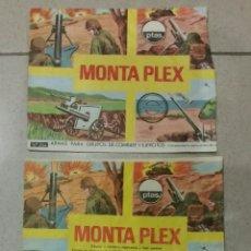Figuras de Goma y PVC: TRES SOBRES VACÍOS MONTAPLEX DIFERENTES N 454. Lote 231911060