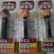 Dispensador Pez: PACK DE 3 LOTE DISPENSADOR PEZ HARRY POTTER NUEVO. Lote 232055265