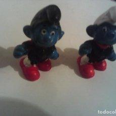 Figuras de Goma y PVC: LOTE 2 PITUFOS SIN MARCAS. Lote 221927602
