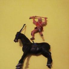 Figurines en Caoutchouc et PVC: ESTEREOPLAST MONGOLSERIE COSACO VERDE PLÁSTICO AÑOS 60. Lote 232147650