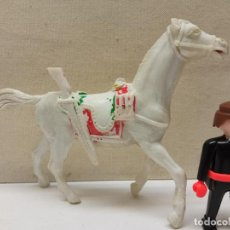 Figuras de Goma y PVC: ANTIGUO CABALLO DE PLASTICO GRANDE 15.5 CM. Lote 232220310