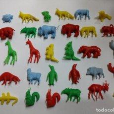Figuras de Borracha e PVC: AÑOS 60-70 / GRAN LOTE DE 30 ANIMALES CHICLES DUNKIN. Lote 232366060