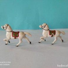 Figuras de Goma y PVC: REAMSA LOTE 2 CABALLOS DILIGENCIA. Lote 212596478