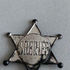 Figuras de Goma y PVC: PLACA SHERIFF. PLÁSTICO. Lote 232791056