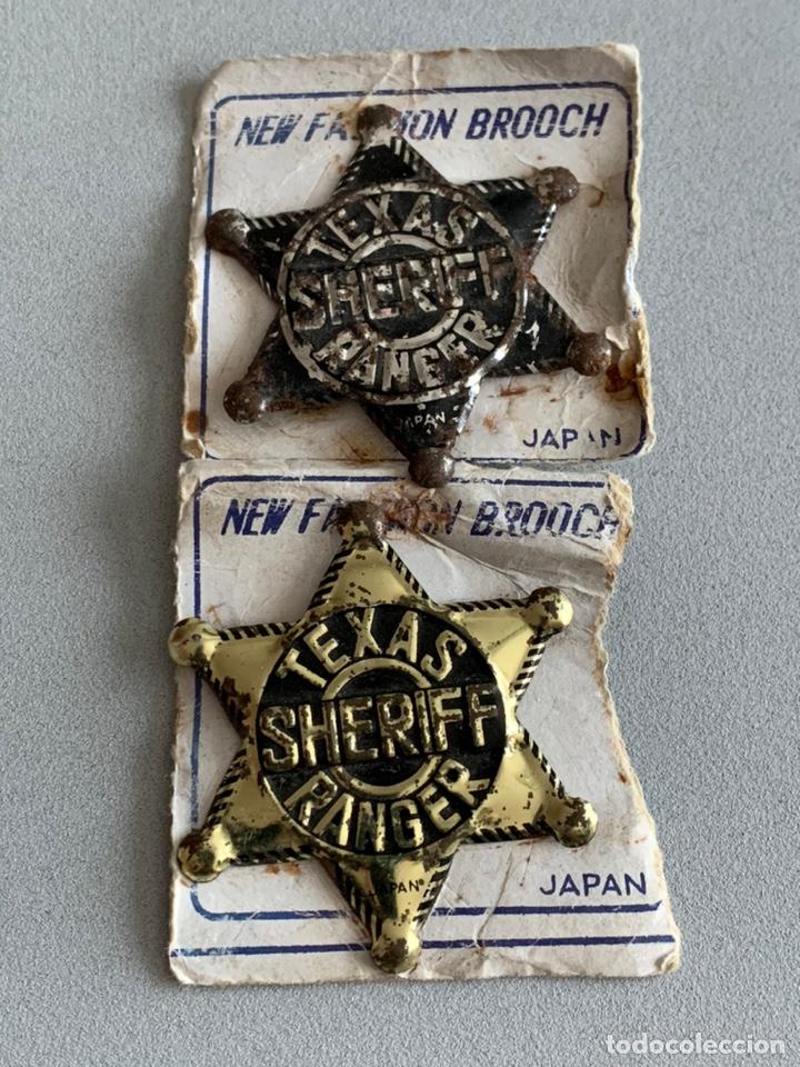 PLACAS METAL SHERIFF. PIPERO. (Juguetes - Figuras de Goma y Pvc - Pipero)