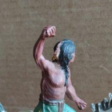Figuras de Goma y PVC: INDIO Y CABALLO REAMSA. Lote 232966963