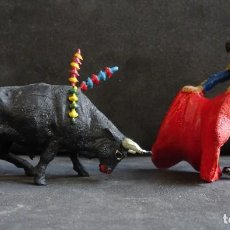 Figuras de Goma y PVC: TEIXIDO ESCENA TOROS. Lote 233037798