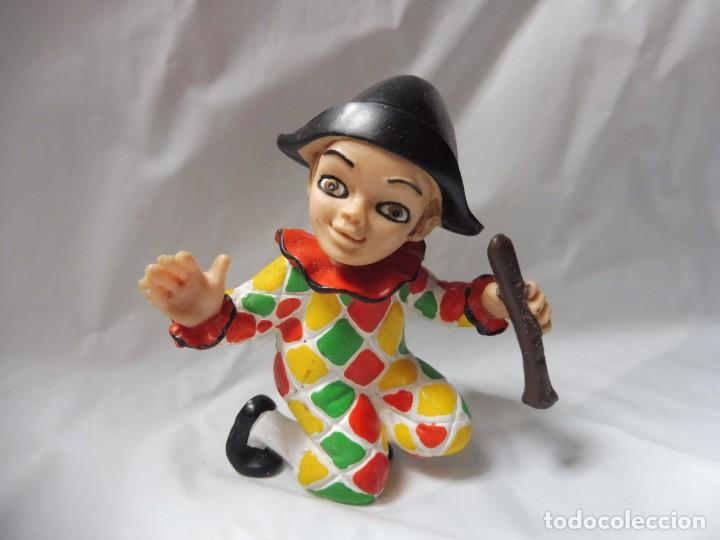 Figuras de Goma y PVC: Comics Spain figura pvc goma arlequín payaso carnaval circo con flauta años 80 - Foto 2 - 233151630