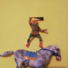 Figurines en Caoutchouc et PVC: ESTEREOPLAST CRISPIN Y CABALLO PLÁSTICO AÑOS 60. Lote 233205740