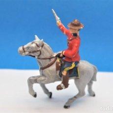 Figurines en Caoutchouc et PVC: ANTIGUAS FIGURAS EN PLÁSTICO. SERIE POLICIA MONTADA DEL CANADA. REAMSA.. Lote 233295255