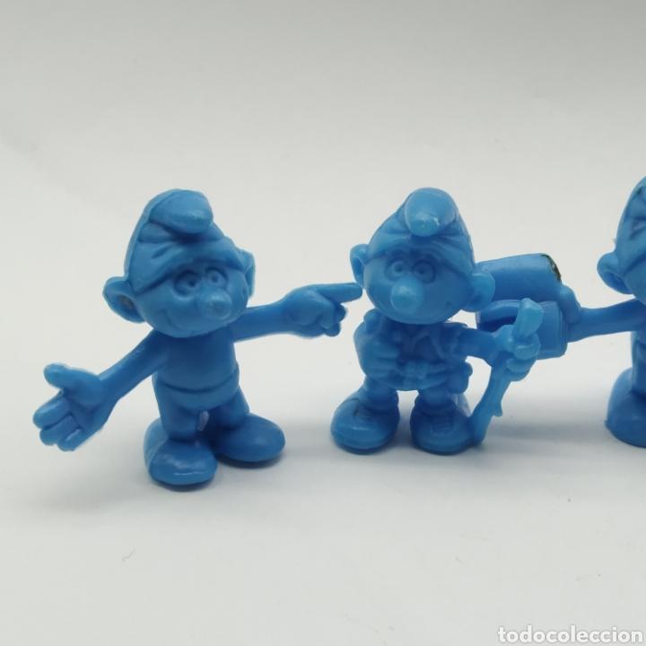 Figuras de Goma y PVC: Lote de 5 pitufos Dunkin año 1983 - Foto 4 - 233554280
