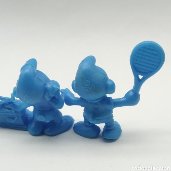 Figuras de Goma y PVC: Lote de 5 pitufos Dunkin año 1983 - Foto 8 - 233554280