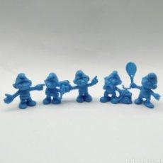 Figuras de Goma y PVC: LOTE DE 5 PITUFOS DUNKIN AÑO 1983. Lote 233554280