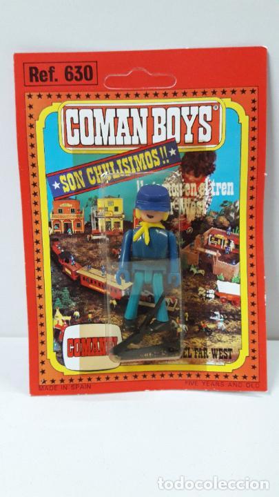 BLISTER DE SOLDADO FEDERAL - COMAN BOYS . REALIZADO POR COMANSI . REF 630 ULTIMAS SERIES (Juguetes - Figuras de Goma y Pvc - Comansi y Novolinea)