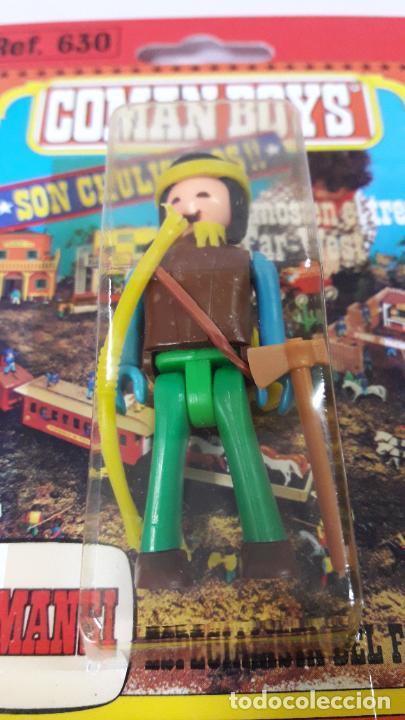Figuras de Goma y PVC: BLISTER DE SOLDADO INDIO - COMAN BOYS . REALIZADO POR COMANSI . REF 630 ULTIMAS SERIES - Foto 5 - 233568105