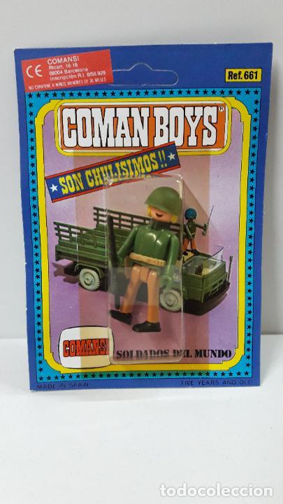 BLISTER DE SOLDADOS DEL MUNDO - COMAN BOYS . REALIZADO POR COMANSI . REF 661 ULTIMAS SERIES (Juguetes - Figuras de Goma y Pvc - Comansi y Novolinea)